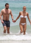 Michelle Hunziker Hot bikini candids in Miami-28