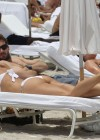 Michelle Hunziker Hot bikini candids in Miami-32