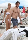 Michelle Hunziker Hot bikini candids in Miami-34