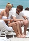 Michelle Hunziker Hot bikini candids in Miami-36