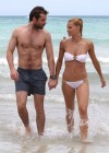 Michelle Hunziker Hot bikini candids in Miami-38