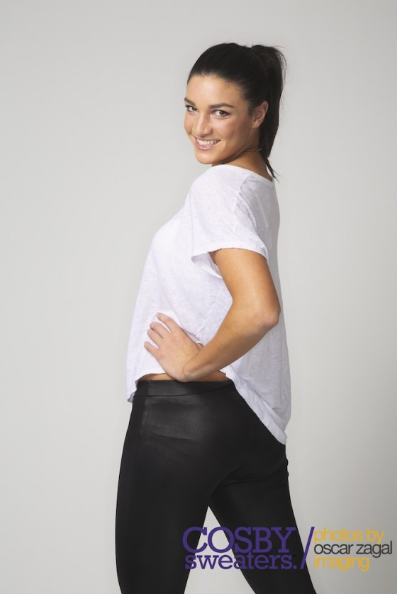 Michelle Jenneke in a photoshoot for Cosby Sweaters