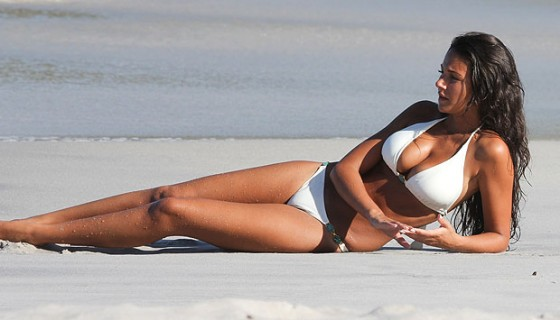 Michelle Keegan - Bikini Candids on St Vincent Beach-02