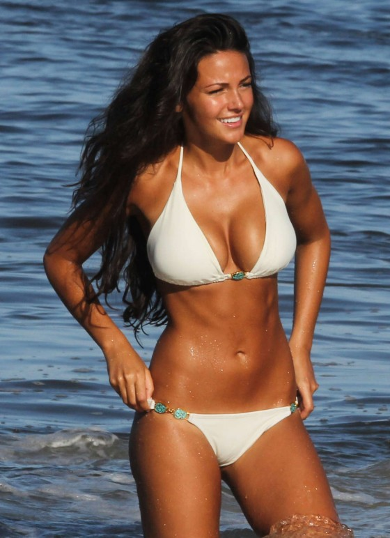 Michelle Keegan Bikini HQ Photos in St Vincent