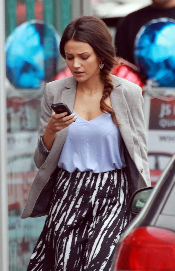 Michelle Keegan - Filming Ordinary Lies in London