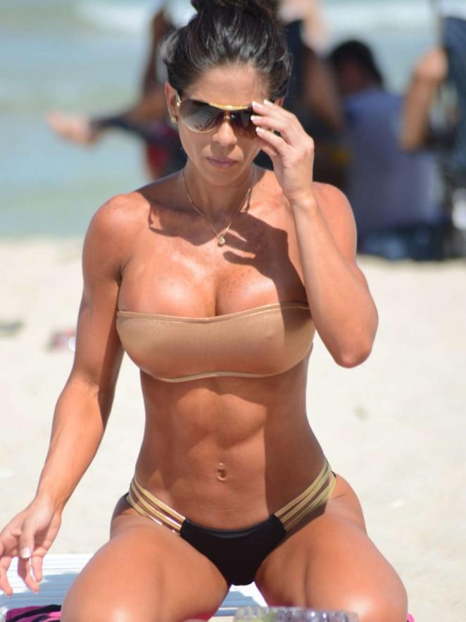 Michelle Lewin Hot Bikini Photos on Miami Beach