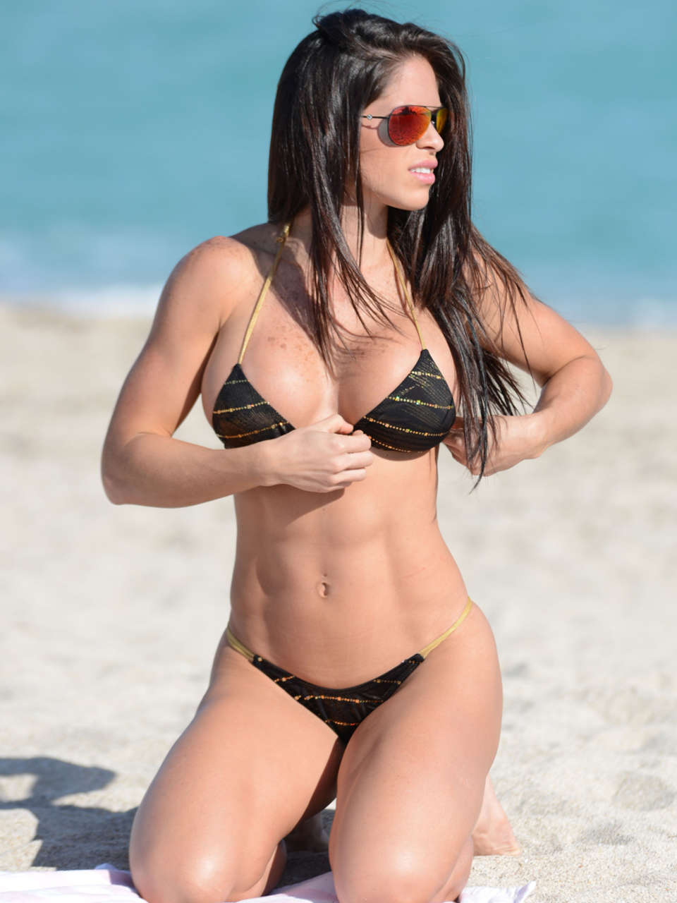 Michelle Lewin Bikini Photos: 2014 in Miami -01