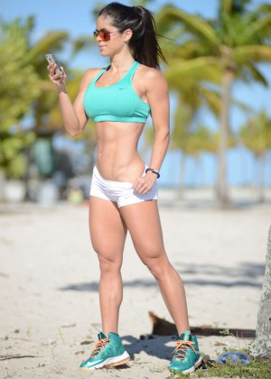 Michelle Lewin in shorts -08