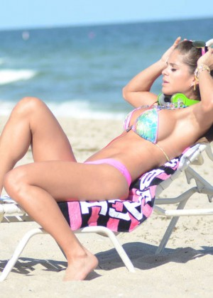Michelle Lewin in Bikini on Miami Beach