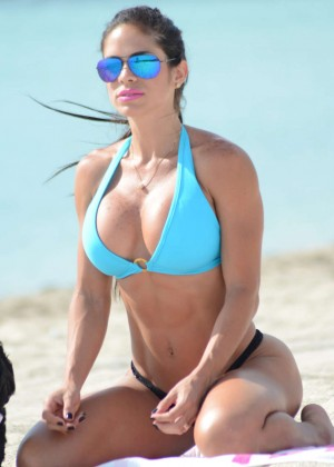 Michelle Lewin Wearing Bikini on Miami Beach