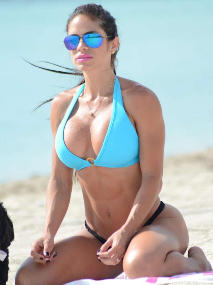 Michelle Lewin Wearing Bikini on Miami Beach