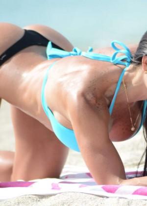 Michelle Lewin Bikini Photos: on Miami Beach-03