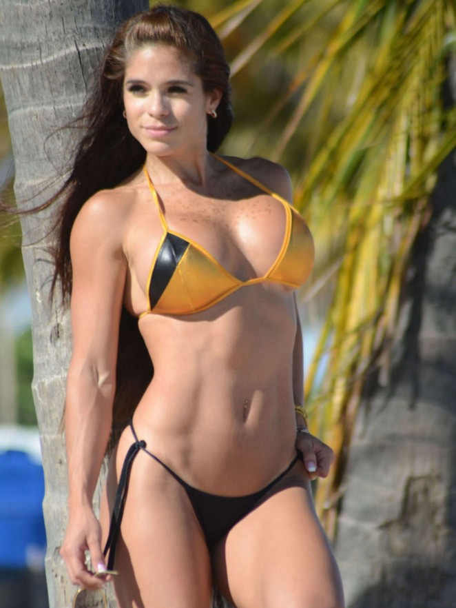 Michelle Lewin in Bikini in Miami