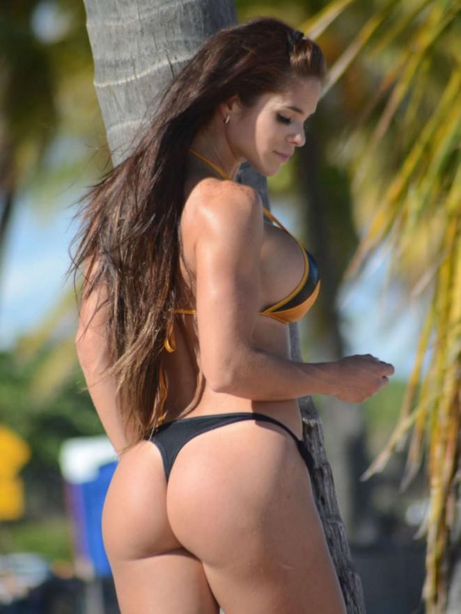 back to post michelle lewin wearing bikini on miami beach