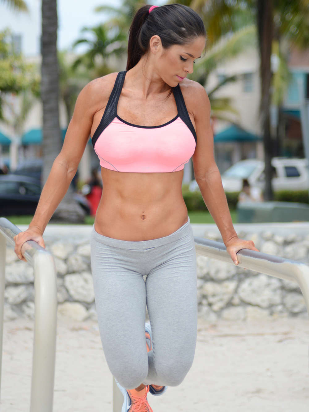 Michelle Lewin In Grey Yoga Pants 07 Gotceleb