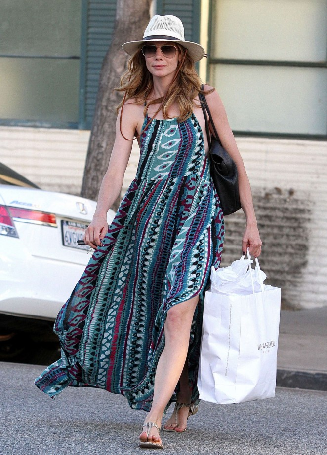 Michelle Monaghan in Summer Dress out in Beverly Hills