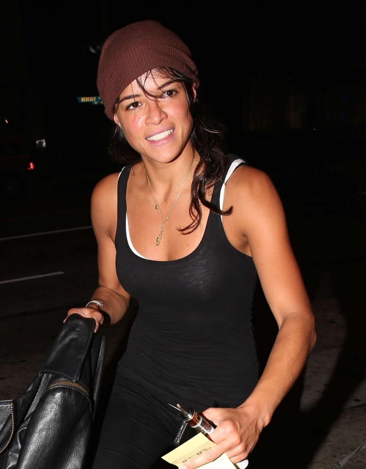 Michelle Rodriguez - Arrives at Madeo Restaurant in West Hollywood
