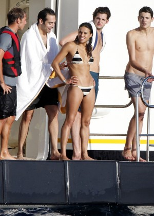 Michelle Rodriguez - Bikini Candids in Ibiza -04