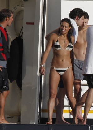 Michelle Rodriguez - Bikini Candids in Ibiza -05