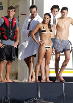 Michelle Rodriguez - Bikini Candids in Ibiza -06