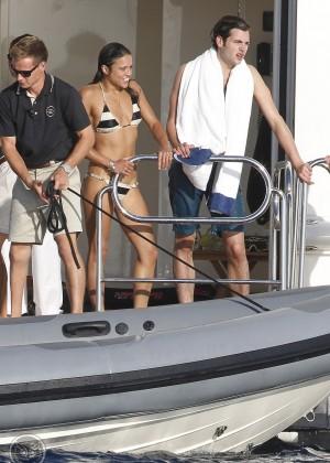Michelle Rodriguez - Bikini Candids in Ibiza -11