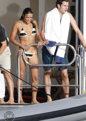 Michelle Rodriguez - Bikini Candids in Ibiza