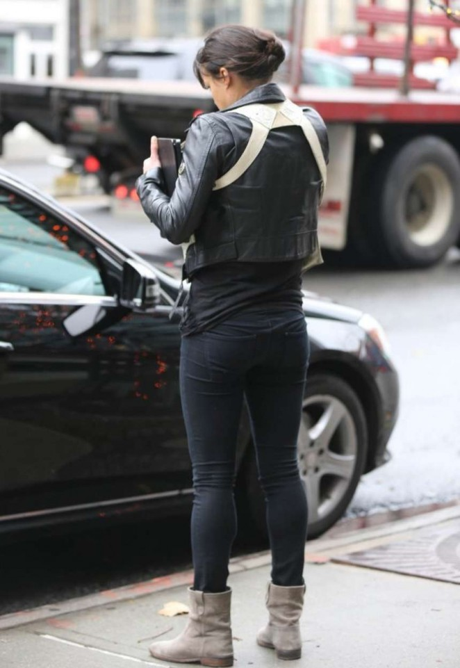 Michelle Rodriguez in Tights Outside The Bowery Hotel in NY