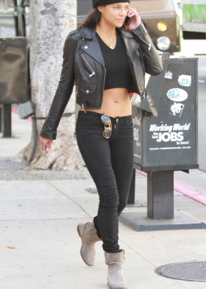 Michelle Rodriguez in jeans shopping candids -07