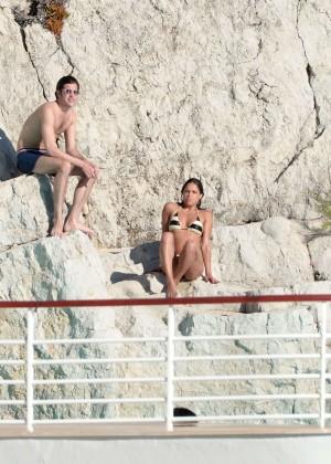Michelle Rodriguez Striped bikini -04