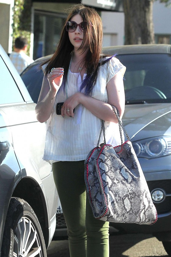 Michelle Trachtenberg Drives Away in Beverly Hills