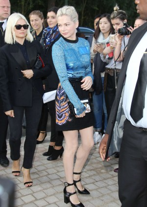Michelle Williams - Louis Vuitton Show Spring-Summer 2015 in Paris