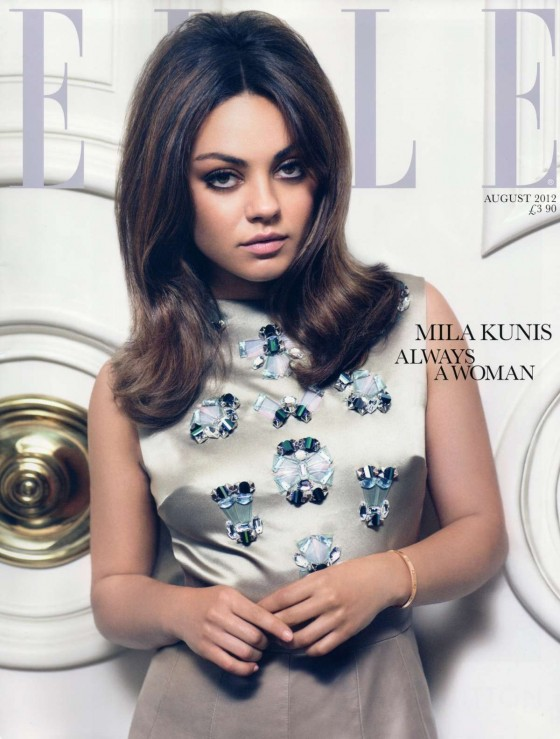 Mila Kunis -Always a woman- Elle Magazine UK - August 2012