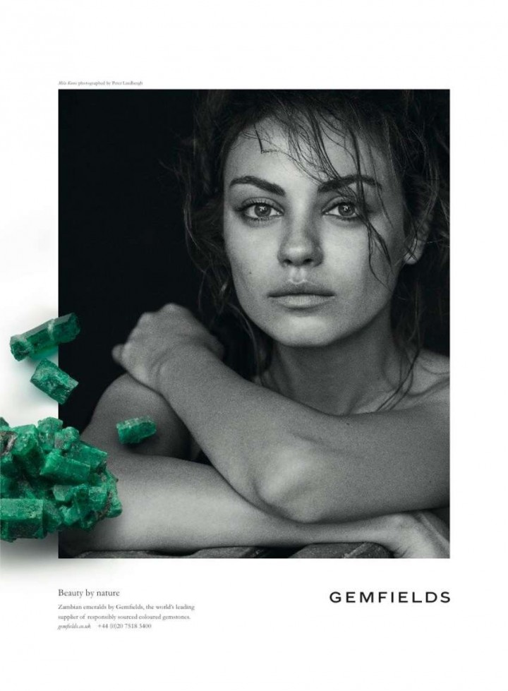 Mila Kunis: Gemfields 2014 Campaign -01