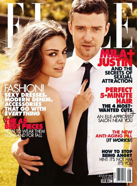 Mila Kunis looks Hot in Elle Magazine - August 2011 Issue