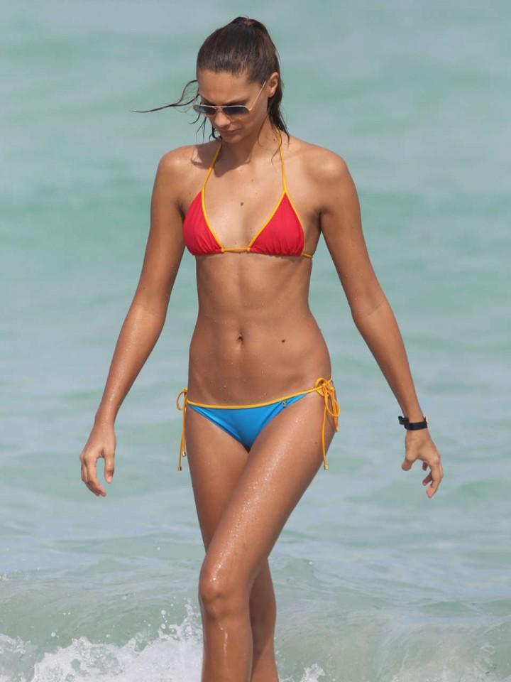 Milena Cardoso and Fernanda Uesler – Bikini Candids at the Beach in Miami -07