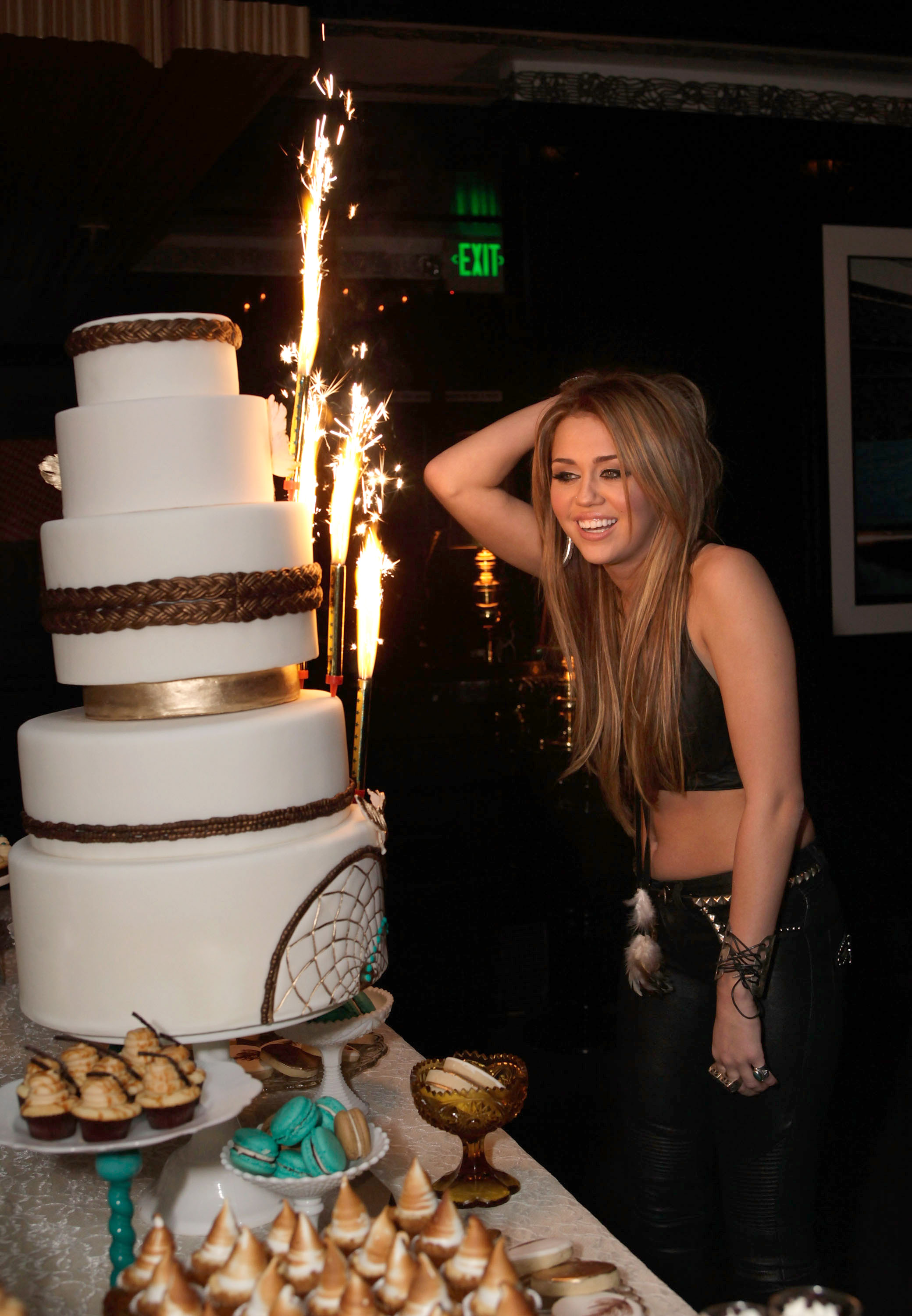 Miley Cyrus 18th Birthday Party At Trousdale Nightclub 08