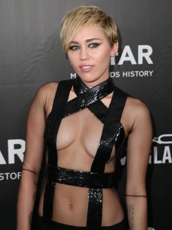 Miley Cyrus - 2014 amfAR LA Inspiration Gala in Hollywood