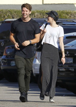 Miley Cyrus and Patrick Schwarzenegger Out in West Hollywood