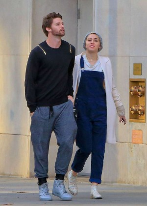 Miley Cyrus and Patrick Schwarzenegger - Shopping in Beverly Hills