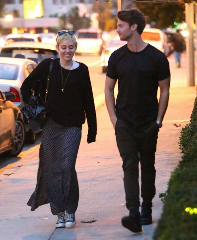 Miley Cyrus and Patrick Schwarzenegger in Malibu -08 ...
