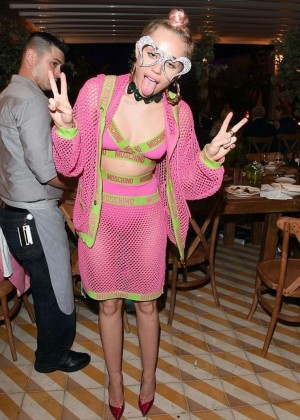 Miley Cyrus at Jeremy Scott and Moschino's Party in Miami