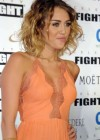 Miley Cyrus cleavage at Celebrity Fight Night-30