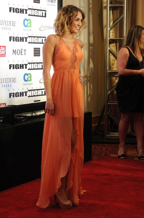 Miley Cyrus at Muhammad Ali's Celebrity Fight Night XIII