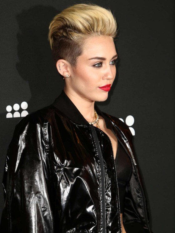 Miley Cyrus at Myspace Launch Event in LA (adds)