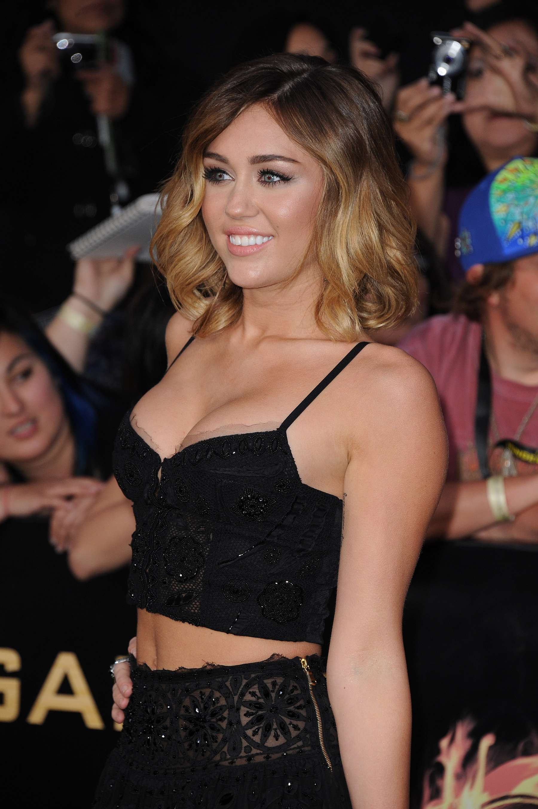 Miley Cyrus 2012 : Miley Cyrus shows big cleavage at The Hunger Games-14