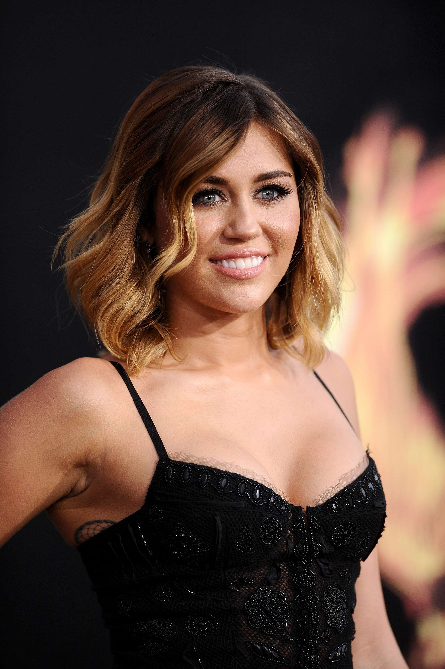 Miley Cyrus 2012 : Miley Cyrus shows big cleavage at The Hunger Games-18
