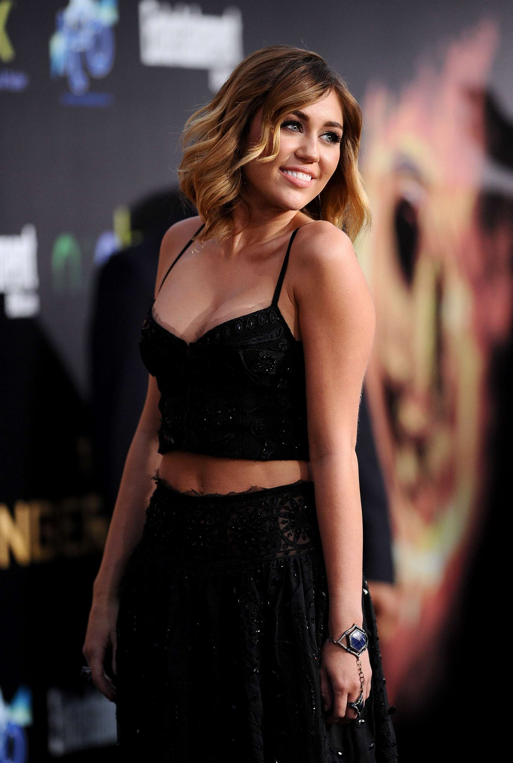 Miley Cyrus 2012 : Miley Cyrus shows big cleavage at The Hunger Games-20