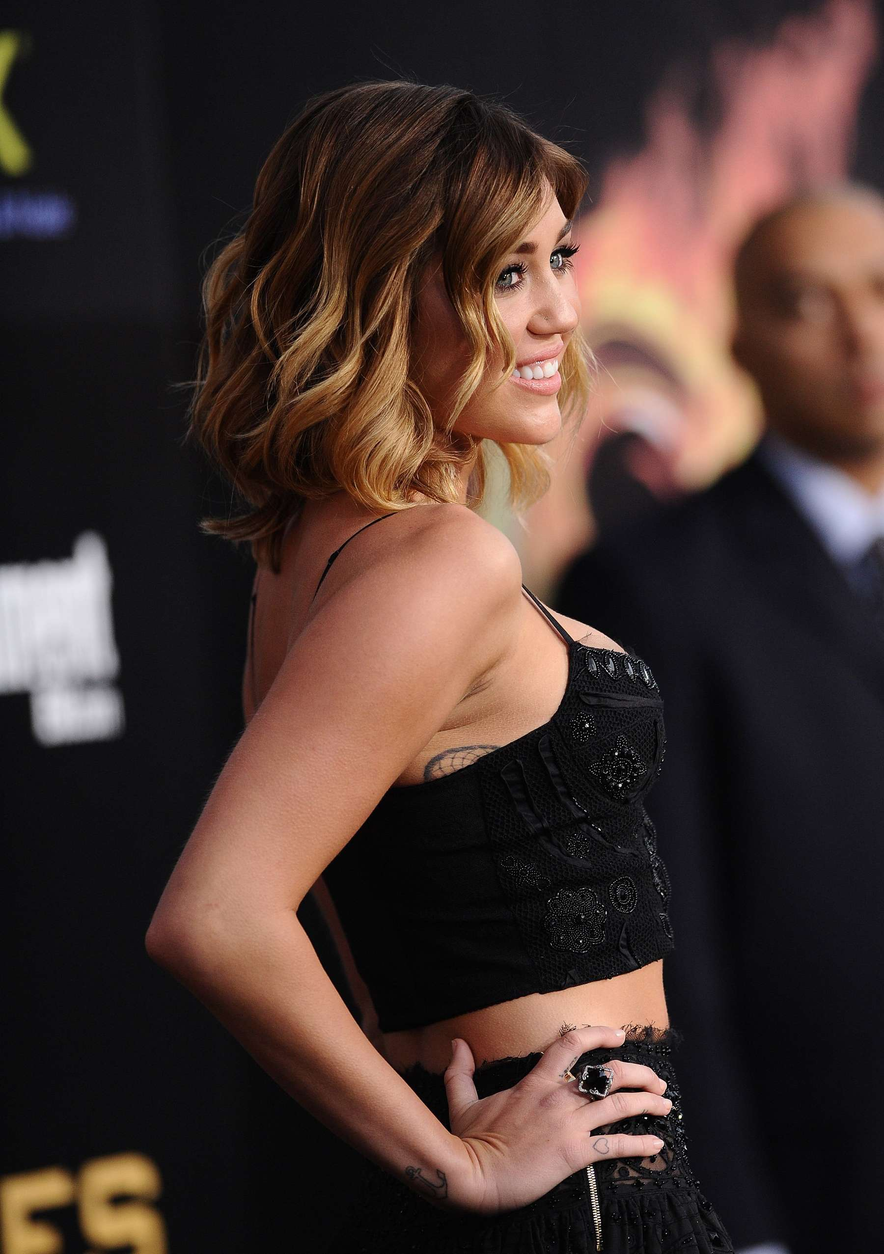 Miley Cyrus 2012 : Miley Cyrus shows big cleavage at The Hunger Games-23