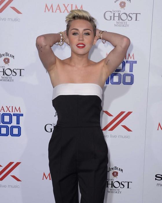Miley Cyrus at the Maxim Hot 100 Party -05