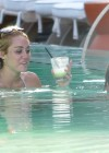 Miley Cyrus - Bikini at a Pool-21